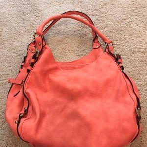 Merona Coral Satchel Shoulder Bag (NWT)